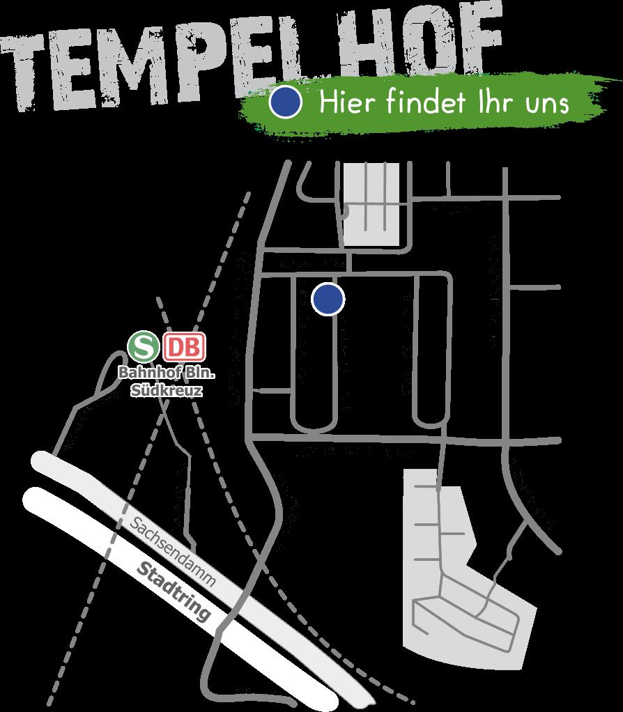Anfahrt Standort Tempelhof